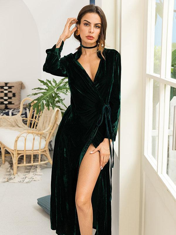 Plus Size Fashion Long Sleeves Cape Top Maxi Dress