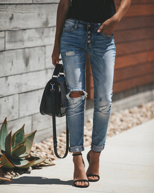 Liberation Distressed Girlfriend Skinny Jeans