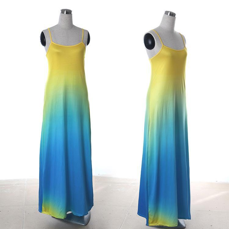 Beach gradient maxi dress