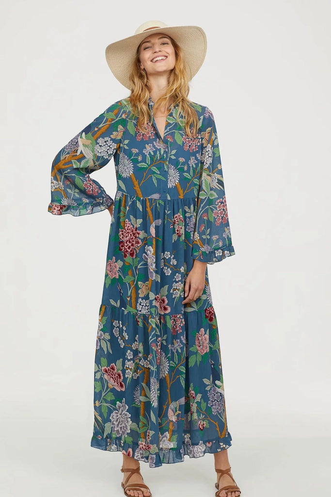 Floral Chiffon Loose Maxi Dress