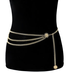Retro Bodychain Personality Simple Yoga Waist Chain