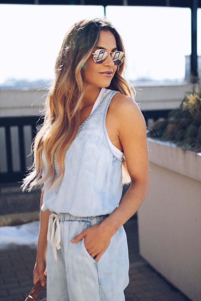 Sexy Vest Denim Jumpsuit