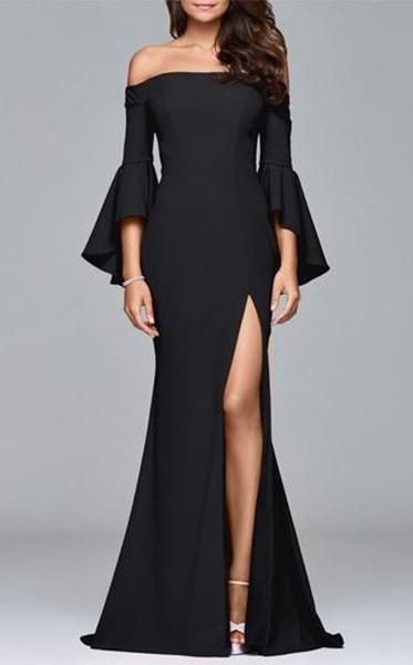 Sexy Off Shoulder Split Evening Long Dress