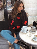 Heart-shaped Knitted Sweater