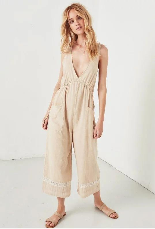 Bohemian Vintage Cotton Loose Jumpsuits