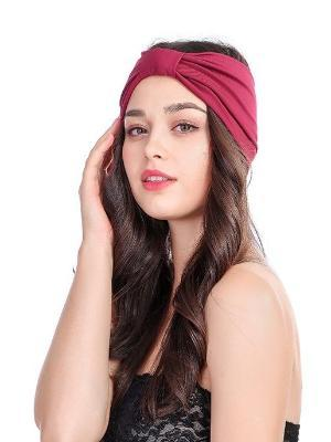 Elastic Wide Headband With Retro Headwear