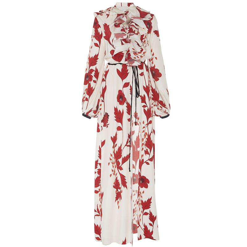 Elegant Fashion Loose Floral Maxi Dress