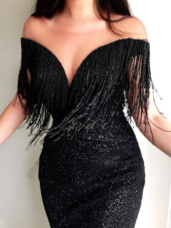 Sexy V-Neck Sleeveless Slim Bodycon Evening Dresses