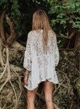 Lace Beach Sexy V-Neck Bikini Cover Ups