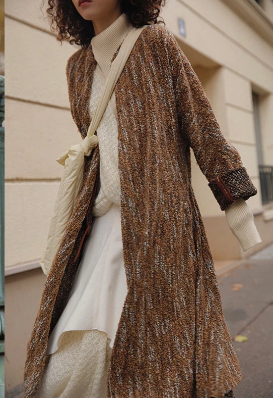 Niche Design Mori Loose Long Wool Knit Coat