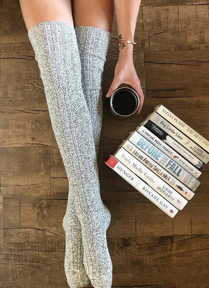 Mid-length Casual Knitted Pile Socks