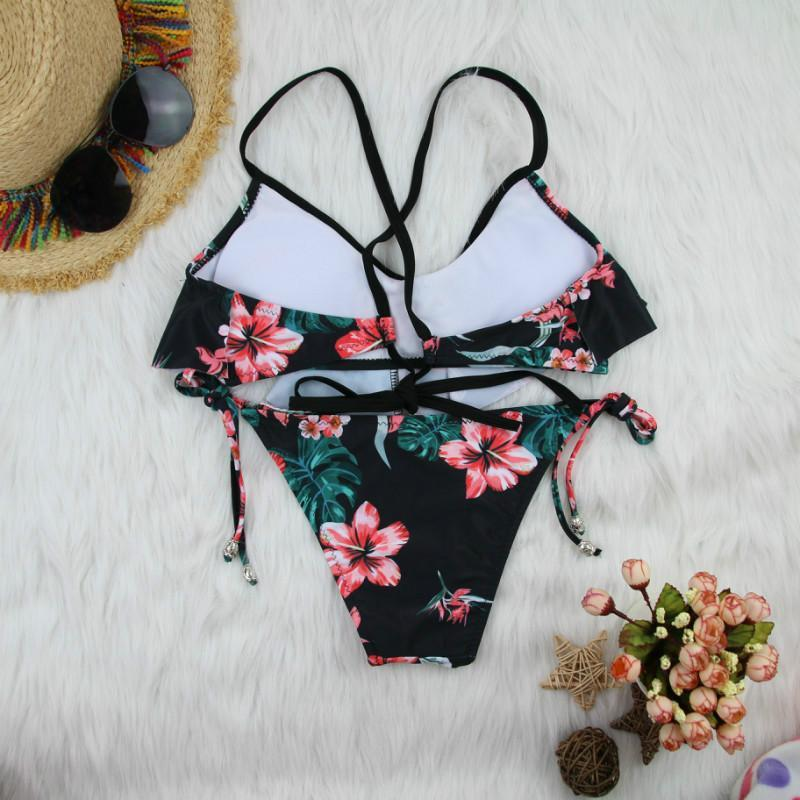 String printed ladies swimwear