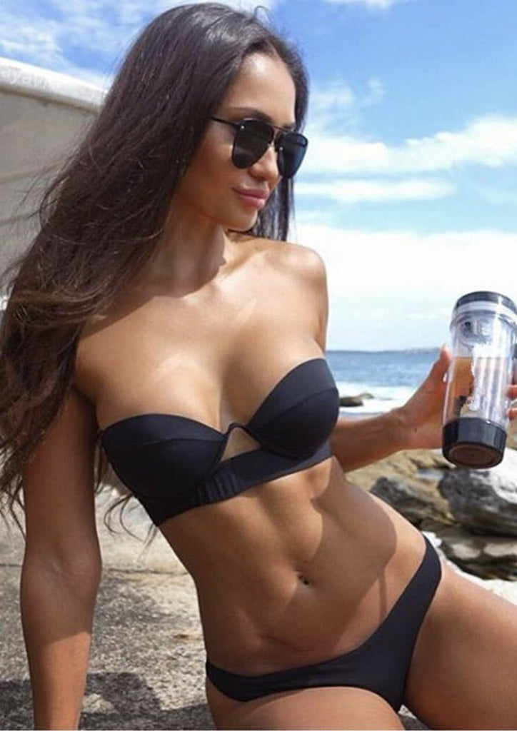 Sexy Push-Up  Bikini Set Bandage Swimsuit Bikinis