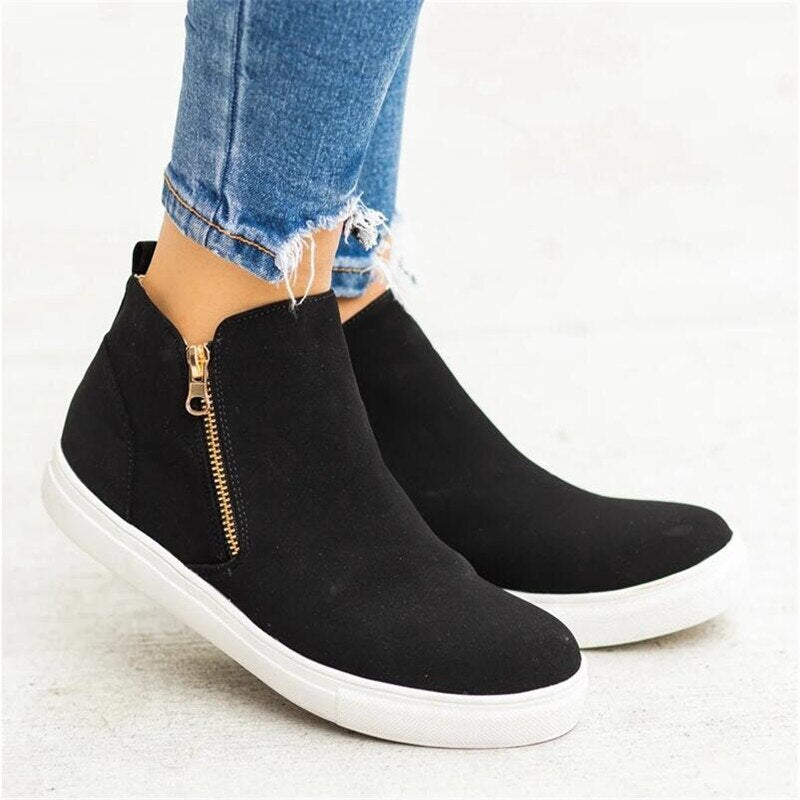Flat Casual Fashion Retro Sneakers Ankle Shoes