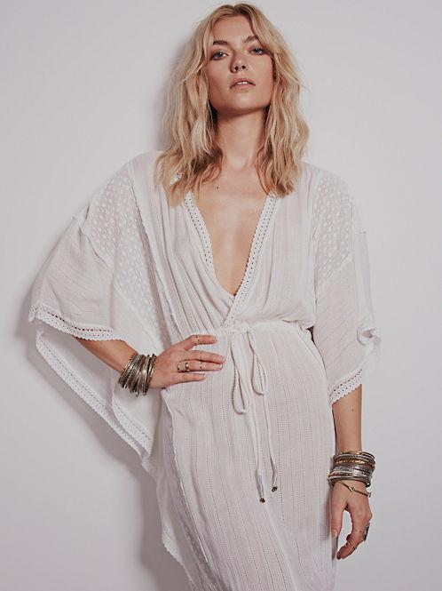 Oversized Embroidery Loose Hippie Boho Long Dress