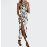Beach Sleeveless Maxi Chiffon Sexy Dress
