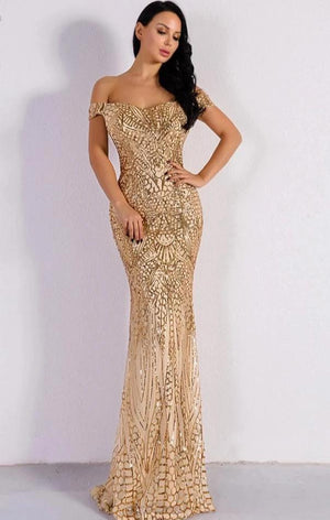 2020 Sexy Bra Party Dress Sequin Maxi Dress