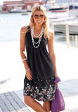 Women Summer Beach Boho Short Loose Party Dress