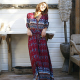 Women Plus Size Bohemian Casual Boho Beach Long Dress