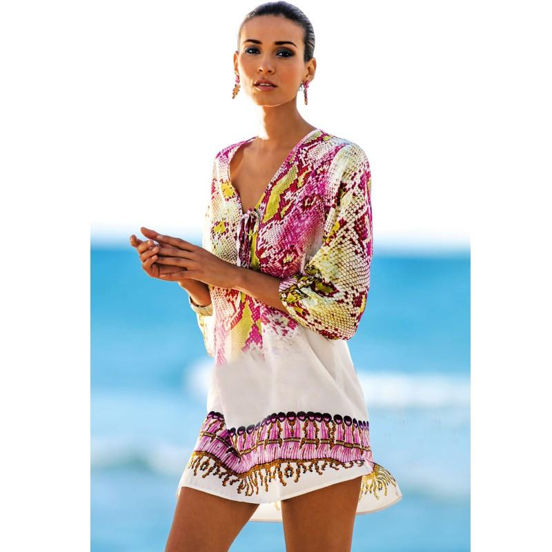 Women summer beach Sexy casual loose bohemian Dress