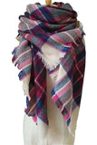 Women Plaid Winter Red&Green Unisex Shawl Scarves