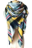 Women Winter Blanket Shawls Soft Yellow Cashmere Scarves