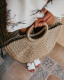 KEY WEST WOVEN STRAW HANDBAG
