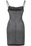 Summer Women Backless Strap boho Bodycon Plaid Dress
