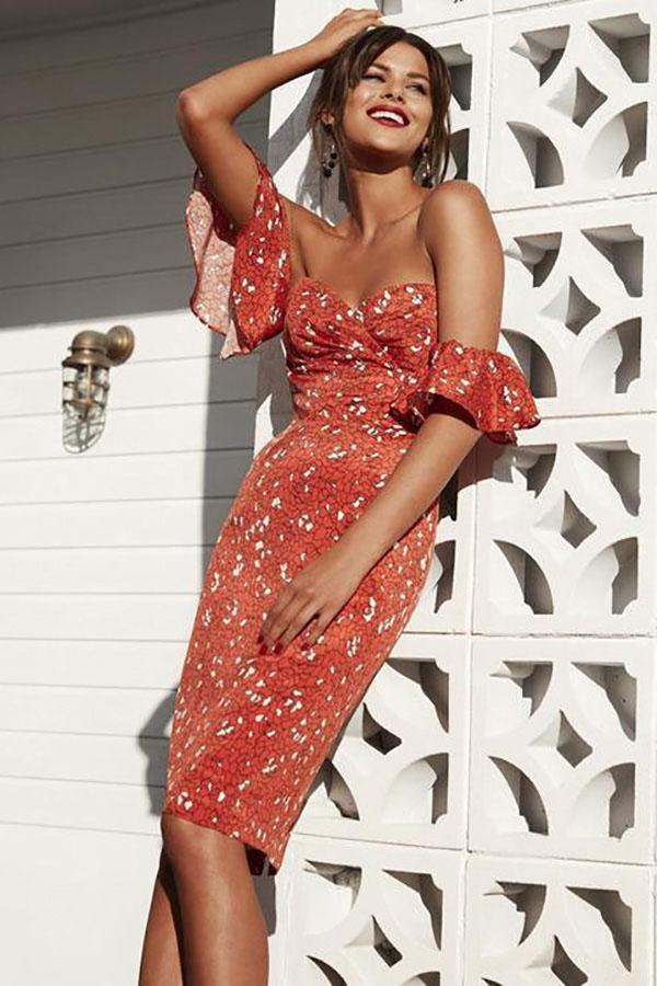 Women Vintage Boho Party Beach Floral Dress