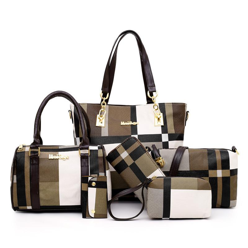 Fashion Stitching Contrast Mother-In-Law Bag (Six-Piece Set)