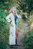Bohemian Long Sleeve Embroidered Maxi Dress