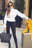 Women Casual Flare Sleeve Ruched Turtleneck Blouse Tops