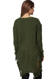 Women O-Neck Long-Sleeve Oversize Pullover Beggar Long Sweater