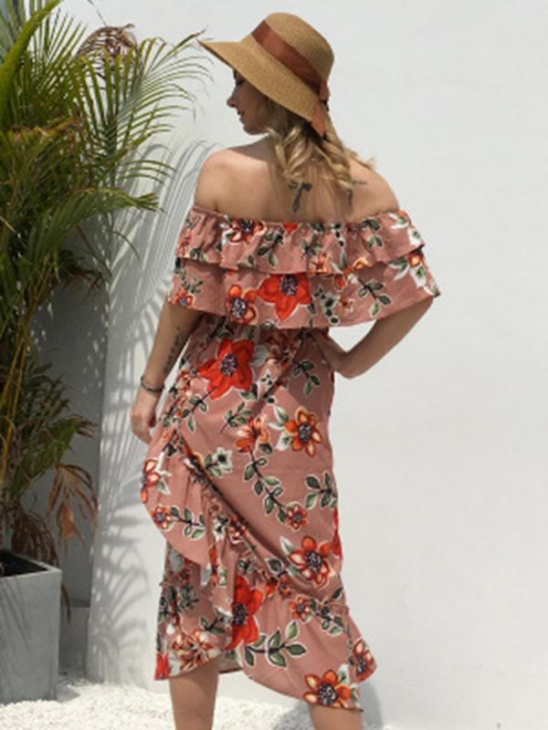 Floral Bohemia Off Shoulder Maxi Dress