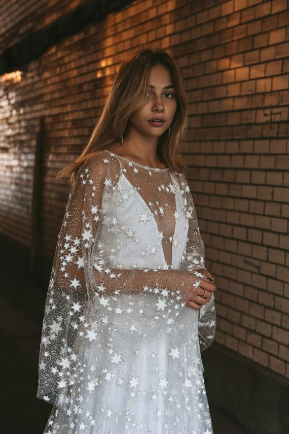Counting Stars Deep V NecK Boho Wedding Maxi Dress