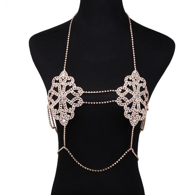 Jewelry Sexy Necklace Chain Bra Necklace Boho Luxury Brassiere