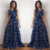 Women Summer Sleeveless Sexy Casual Boho Maxi Beach Dress