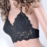 Top Sexy Halter Swimwear Handmade Crochet Bikini Slim-type Beach Top