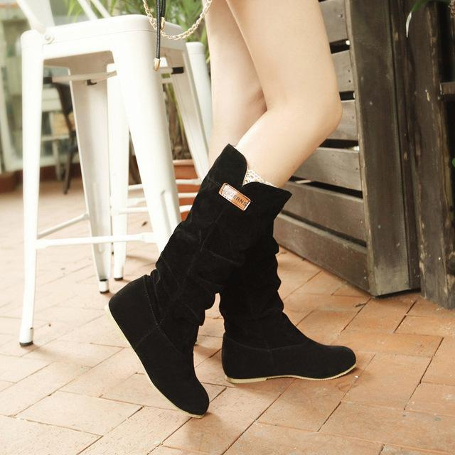 Mid-Calf Wedgess Sexy Ladies Wedges Shoes