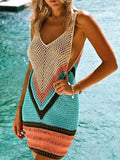 Croknit Sexy Beach Cover Up Bikini Crochet Knitted Swimwear-Mult Color