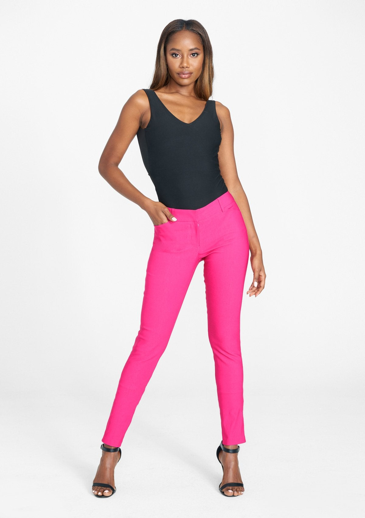 Alloy Apparel Tall Julia Dressy Skinny Pants for Women in Beetroot Size 2XL length 37   Nylon