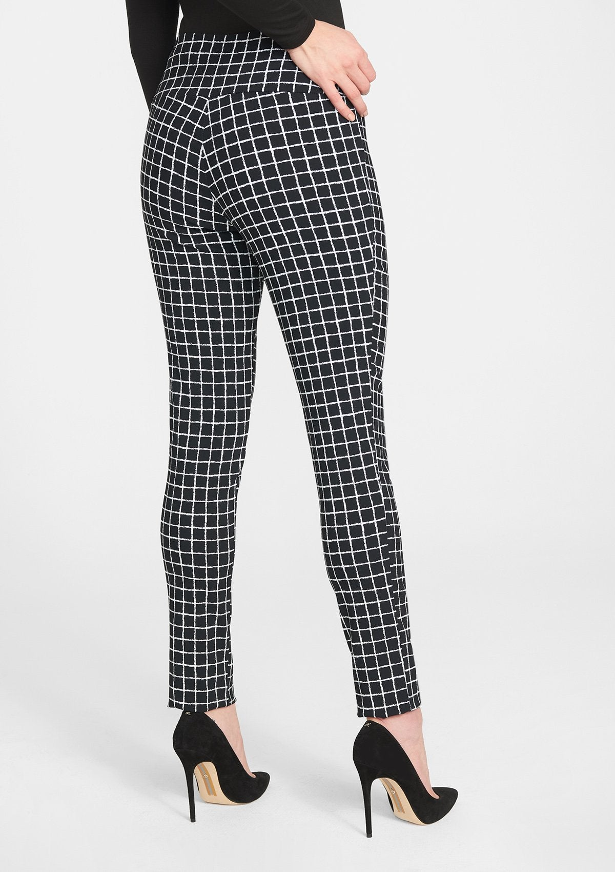 Black Plaid Based Print