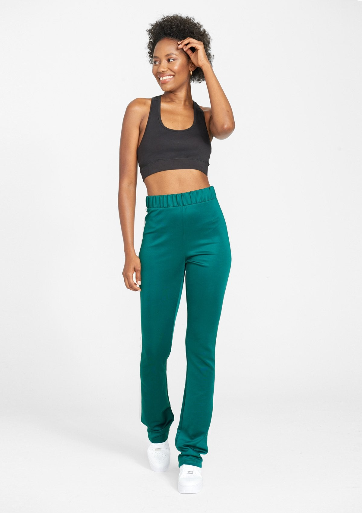 Alloy Apparel Tall Track Pants for Women in Jade Ivory Size 2XL length 37   Polyester