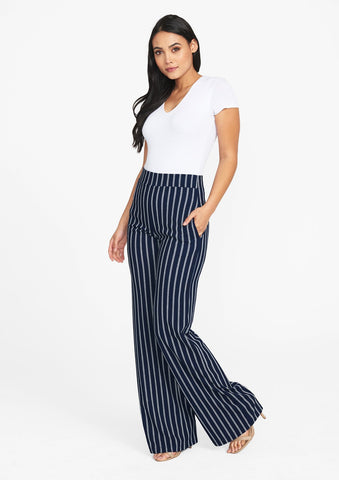 Navy Ivory Stripe