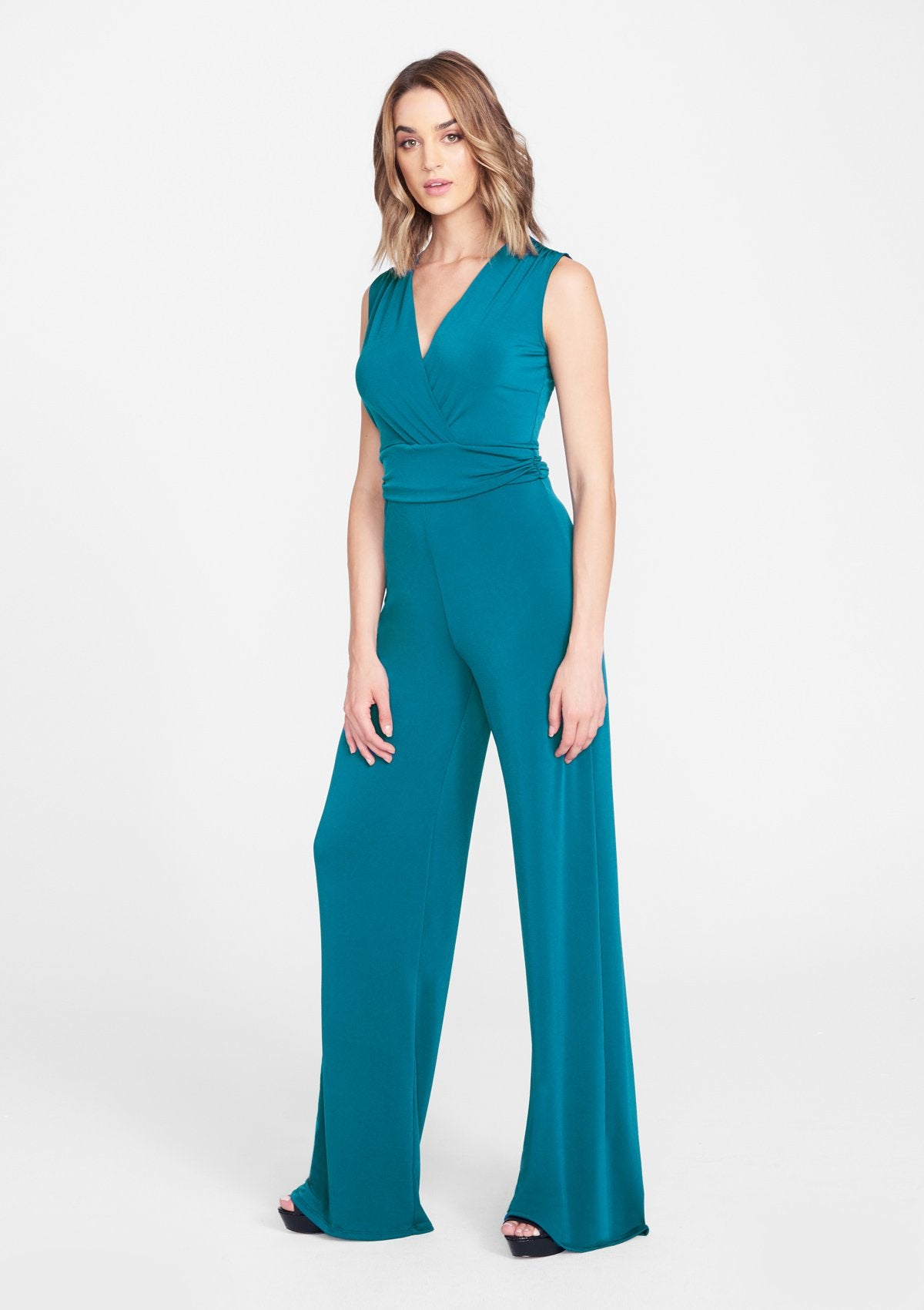 Alloy Apparel Tall Jackie Jumpsuit for Women in Teal Size XL   Polyester