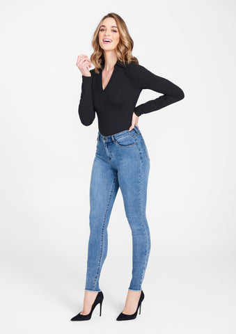 Tall Super Skinny Raw Edge Jeans