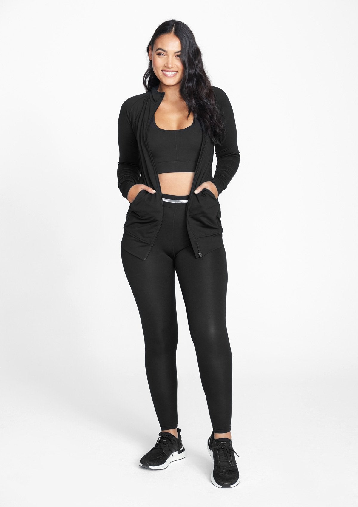 Alloy Apparel Tall Active Leggings for Women in Black Size S length 36   Polyester