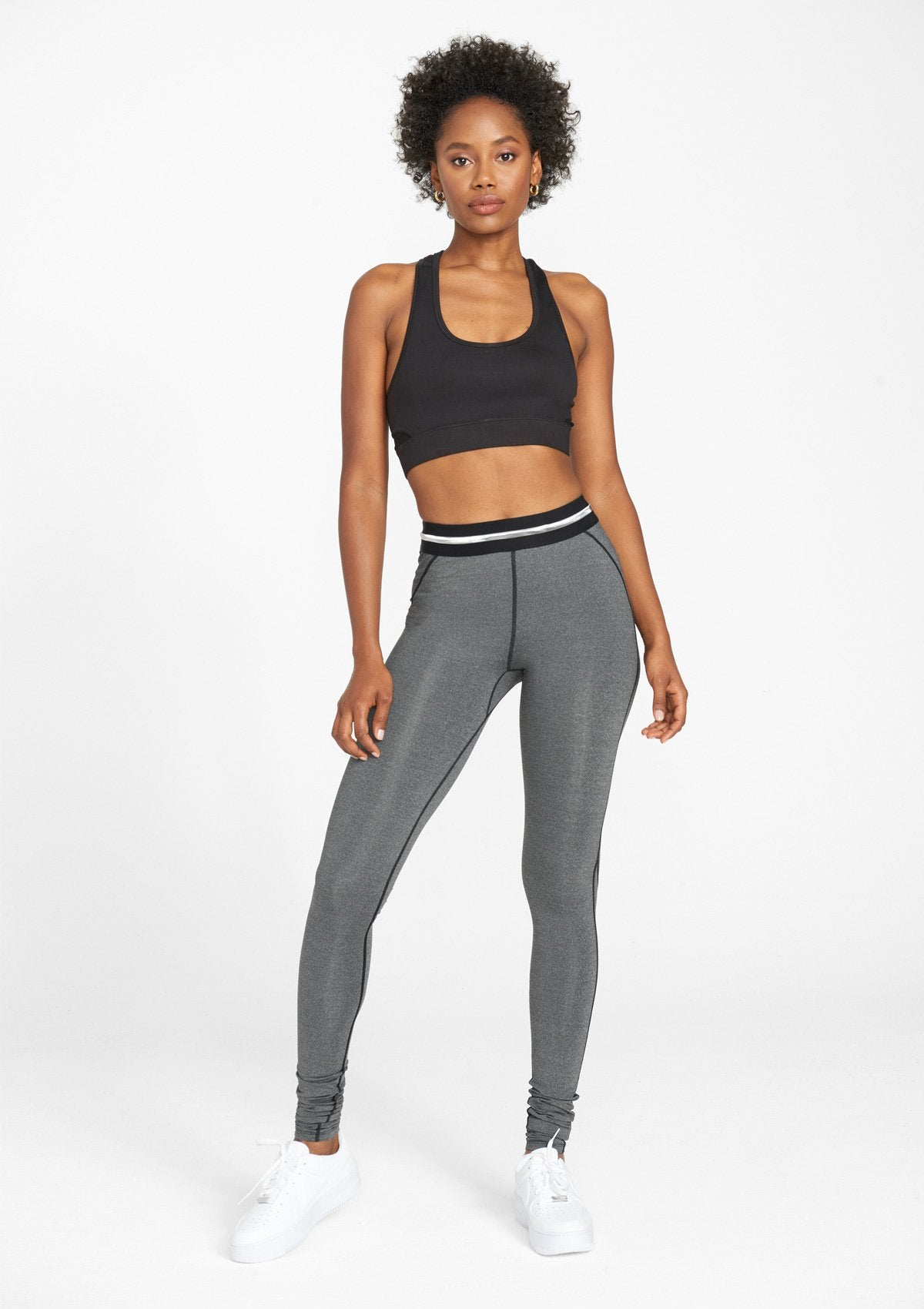 Alloy Apparel Tall Active Leggings for Women in Heather Grey Size M length 36   Polyester
