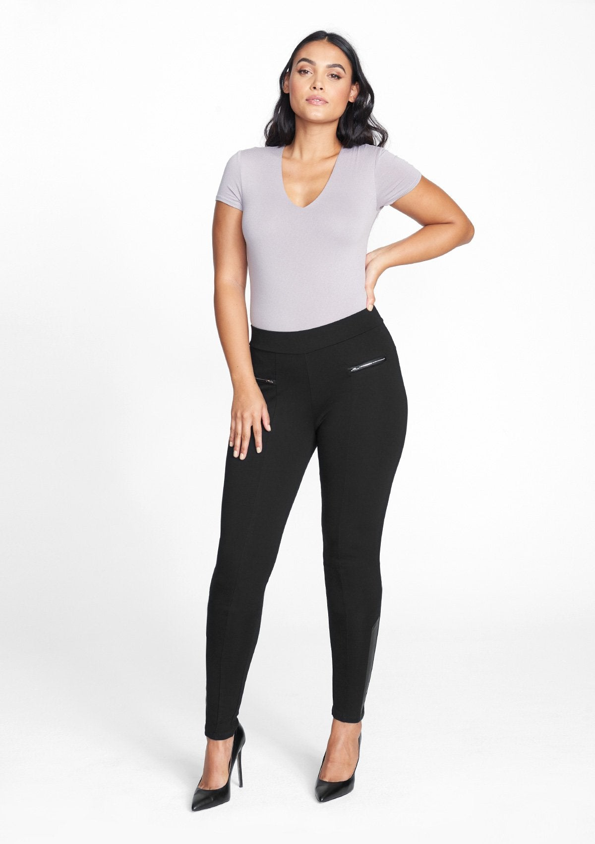 Alloy Apparel Tall Pull-On Dressy Pants for Women in Black Size XL length 37   Polyester