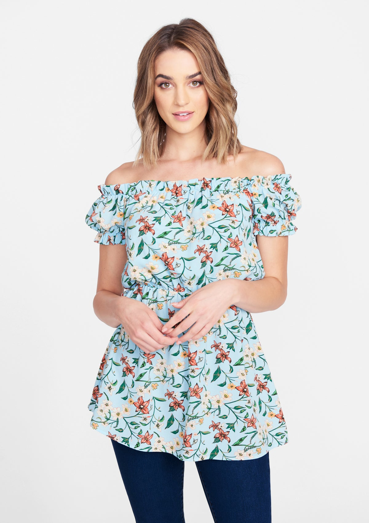 Light Blue Floral